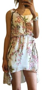 short dress White High Low Cherry Blossom on Tradesy