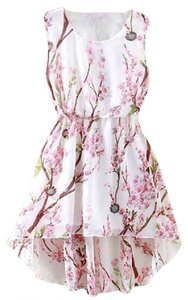 Other short dress White High Low Cherry Blossom Sleeveless Floral on Tradesy