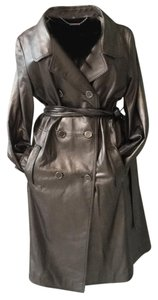 Elie Tahari Pewter Leather Jacket