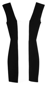 BCBGMAXAZRIA Black White Dress