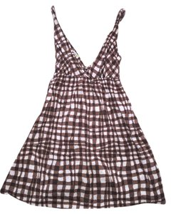 Old Navy short dress Brown and White Summer on Tradesy