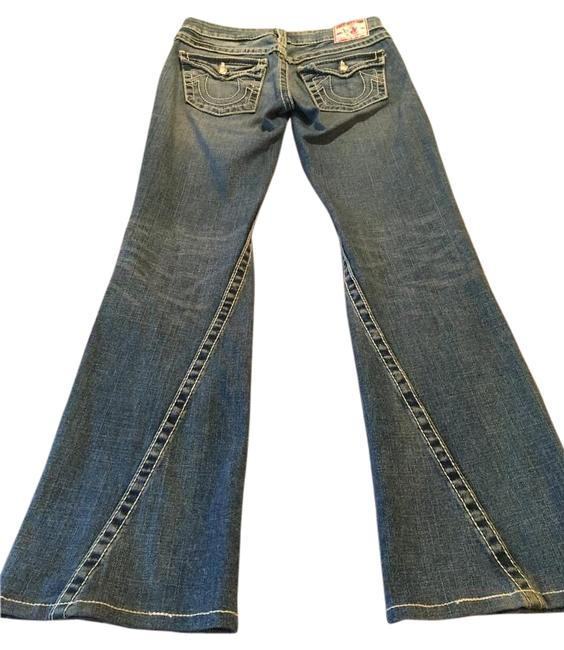 Item - Blue Light Wash With Crystal Buttons. Flare Leg Jeans Size 27 (4, S)