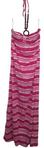 Pink and White Maxi Dress by No Boundaries