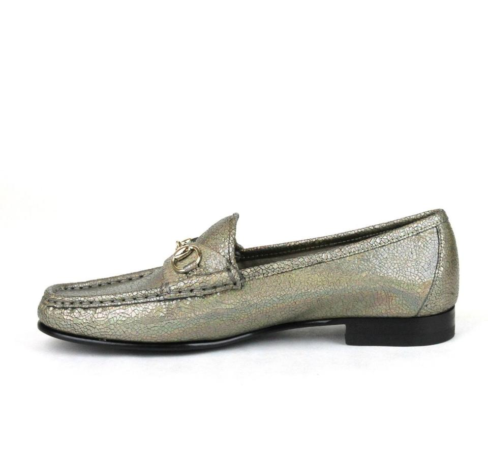 f06d8fd52a4 Gucci Fawn Horsebit Womens 1953 Loafer Moccasins Cracked 34.5 4.5 ...