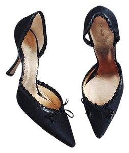 Giorgio Armani Bow D'orsay Monogram Black Pumps