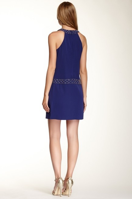 Cynthia Steffe Embellished Beaded Halter Dress