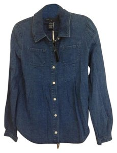 Marc by Marc Jacobs Button Down Shirt Blue denim pleated