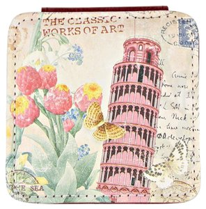 Romantic Journey The tower of Pisa Compact Double Sided Mirror Women Accessory Novelty Gift
