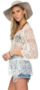 Free People Saturdays Lace Stunning Top