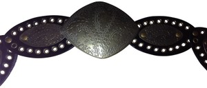 Boutique black and bronze belt