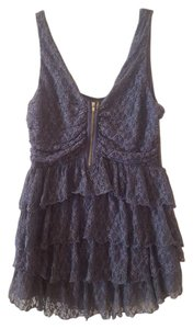Moda International Tiered Lace Lace Top dusty purple