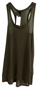 H&M short dress Army Green Polyester Sheer Racer-back on Tradesy