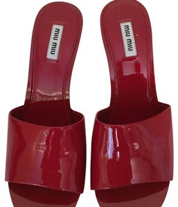 Miu Miu Red Mules