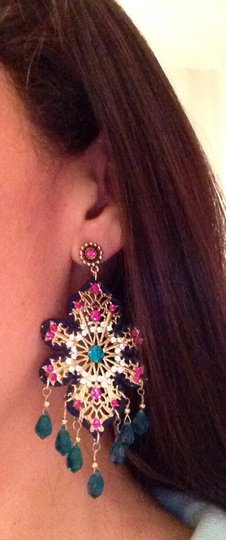 Kenneth Jay Lane Gorgeous Kenneth Jay Lane Chandelier Earrings