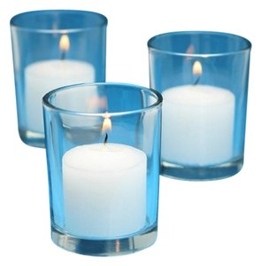 72 Glass Candle Votives And 72 Candles Clear Glass White Candles