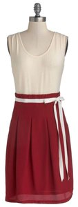 Pink Martini short dress Cream and Cranberry Twofer Burgundy Maroon on Tradesy