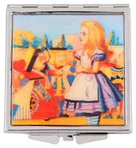Alice In Wonderland Compact Double Sided Mirror Women Accessory Novelty Gift