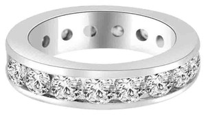 Avi and Co 3.40 cttw Round Brilliant Cut Diamond Channel Set Eternity Band 14K White Gold