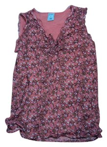 Old Navy Tie front pink floral tank top