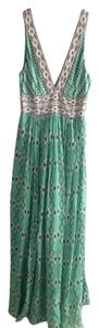 Green Maxi Dress by BCBGMAXAZRIA Sequin Plunging V Maxi