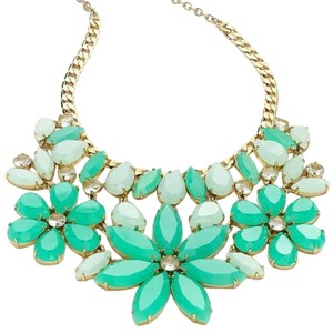 Kate Spade Parisian Floral Statement Necklace Gardens of Luxembourg