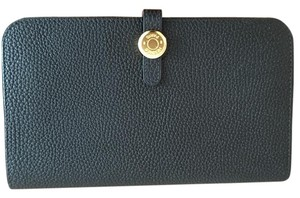 Hermès NEW Authentic HERMES Dogon COMBINED Wallet Togo Leather