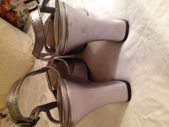 Via Spiga Silver Wedges
