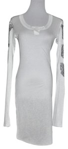 Thomas Wylde short dress White Embelished Long Sleeve Tunic on Tradesy