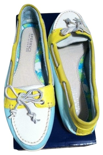 Sperry Women's Topsider/Audrey Boat Shoe Upper Leather Aqua/Pucker Flats