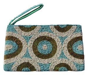 Wristlet in Blue, Green, White