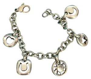 Tiffany & Co. Tiffany & Co. Silver Stencil Heart Sun Moon Star Horseshoe Charm Bracelet
