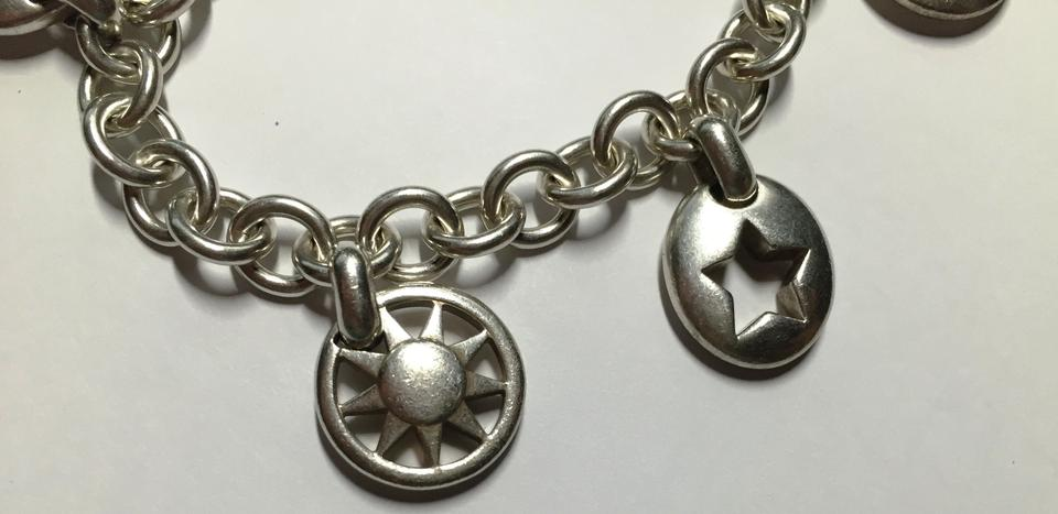 3f90e043f3756 Tiffany & Co. Silver Stencil Heart Sun Moon Star Horseshoe Charm Bracelet  60% off retail