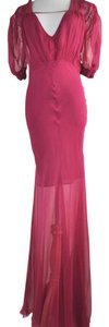 Dior Silk V Neck Gown Maxi Dress