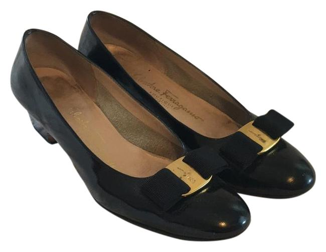 Item - Black and Gold 55015 Pumps Size US 7.5 Narrow (Aa, N)