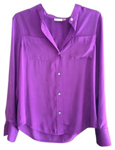DKNY Work Business Button Down Shirt Purple