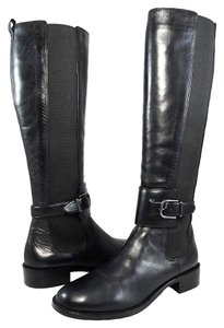 Via Spiga Boot Leather Stretchy Black Boots