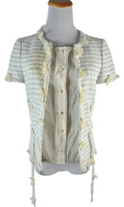 Chanel Tweed Size 36 Beige, Ivory Blazer