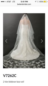 Bel Aire Bridal Ivory Long Cathedral 7262 Bridal Veil