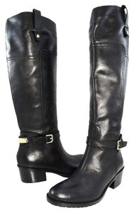 Ivanka Trump Boot Leather Logo Black Boots