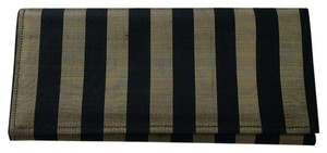 Black Striped black, gold Clutch