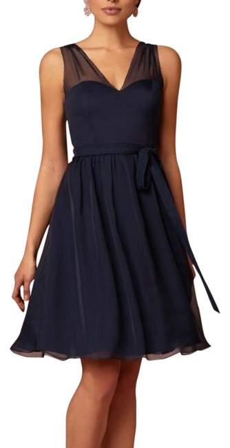 Item - Navy Ainsley Above Knee Cocktail Dress Size 4 (S)