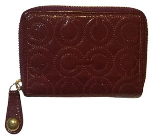 Coach Coach Embossed Patent Leather Medium Zip Around Wallet
