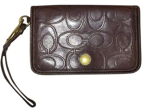 Coach Wristlet in Dark Brown
