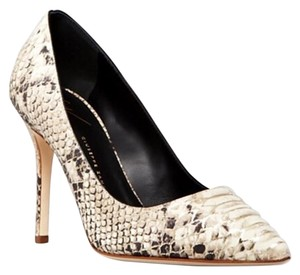 Giuseppe Zanotti Embossed Phython White - Gray - Black & Silver Pumps