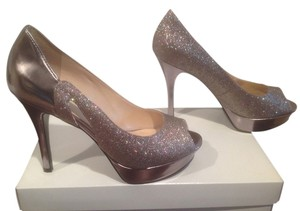 Marc Fisher Two Of Silver With Glitter Silver glitter Platforms