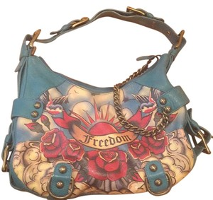 Isabella Fiore Tote in Teal/red