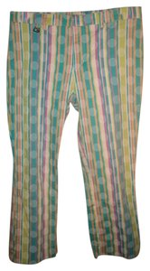Guess Straight Pants Multi-Color Strips