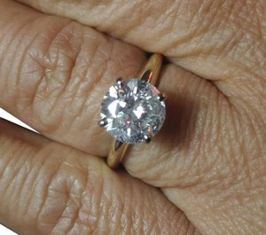 Other 2.10CT CERTIFIED NATURAL G/SI WHITE DIAMOND 14K GOLD ENGAGEMENT RING