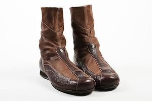 Henry Beguelin Leather Brown Boots