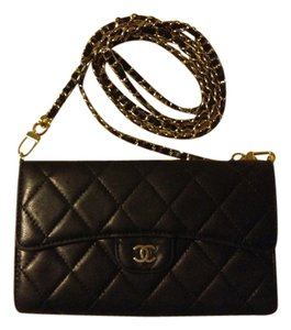 14dfd6778a25 Chanel Wallet On A Chain Woc Mini Classic Flap Quilted Lambskin Leather  Silver Hardware Shwr Link